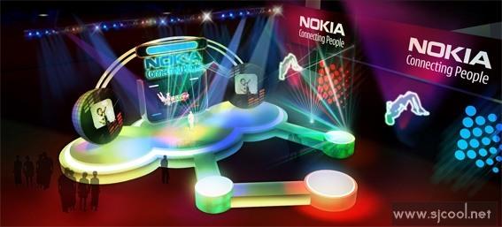 Nokiaos灯箱舞台设计效果图