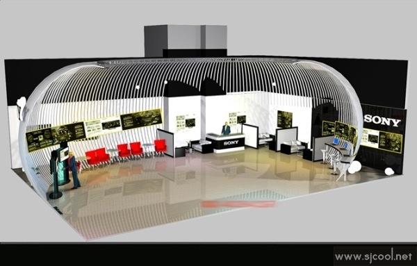 SONY展览展示效果图-Sjcool设计酷站